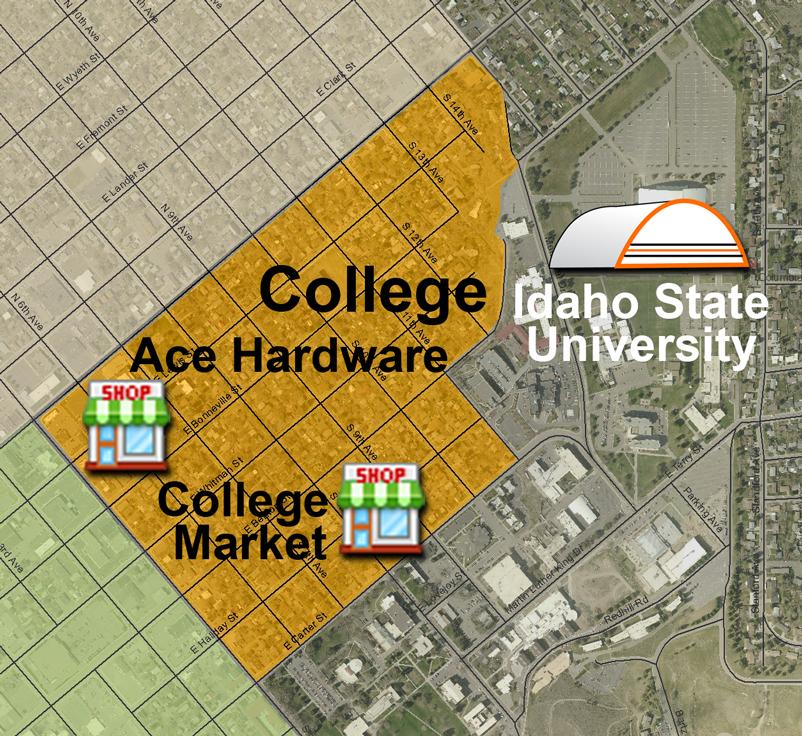 Idaho State Campus Map.College Neighborhood Association