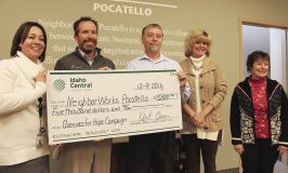 ICCU Presents NeighborWorks Pocatello with $5,000 Donation